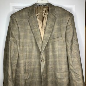 Jos. A. Bank Blazer Wool Silk Linen Blend Size 52R